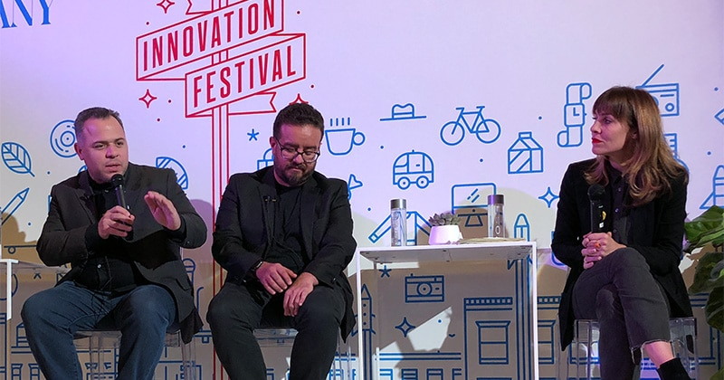 Panel discussion at the 2018 Fast Company Innovation By Design Awards