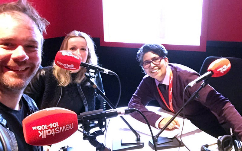 Frank Long and Fiona Murphy of Frontend.com with Dil Wickremasinghe of Newstalk.