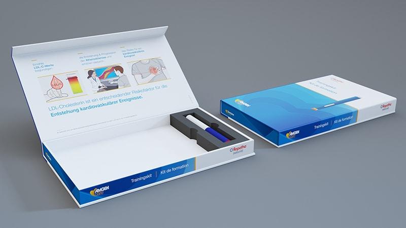 Digital rendering of final Training Kit packaging design.