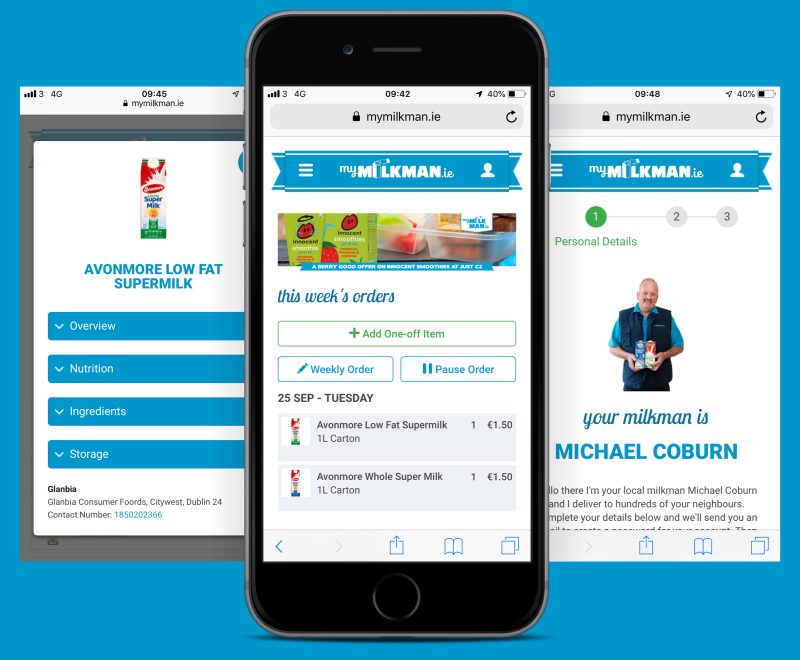 Mobile Application for Mymilkman.ie