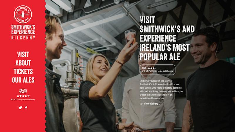The Smithwick's Experience Kilkenny Homepage